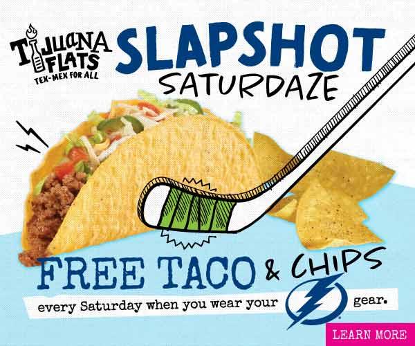 Slapshot Saturdaze Free Taco And Chips